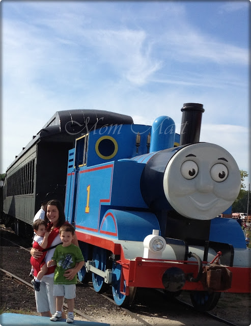 Mom and the boys on A Day Out With Thomas