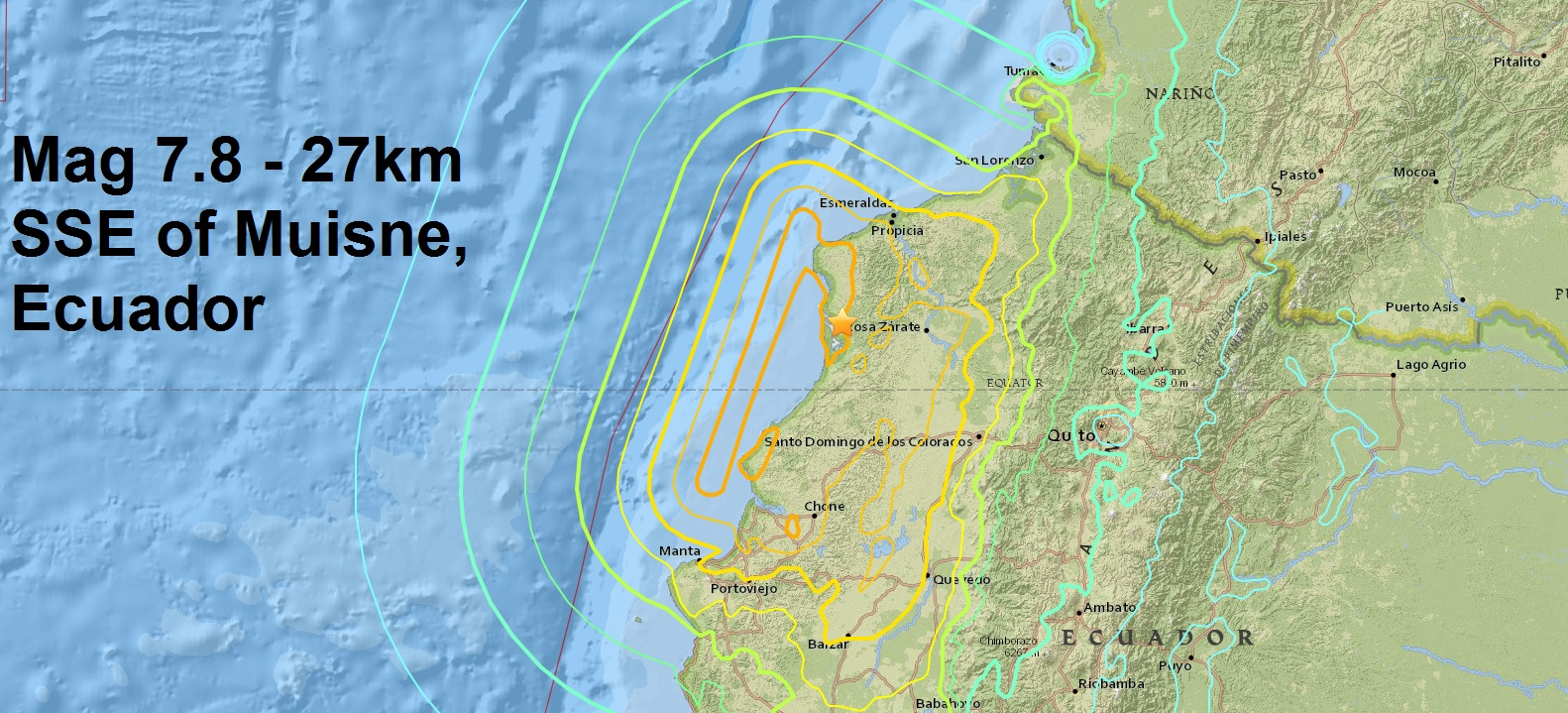 A mag 7.8 - quake strikes Ecuador as April threatens to be the deadliest month since the March 2011