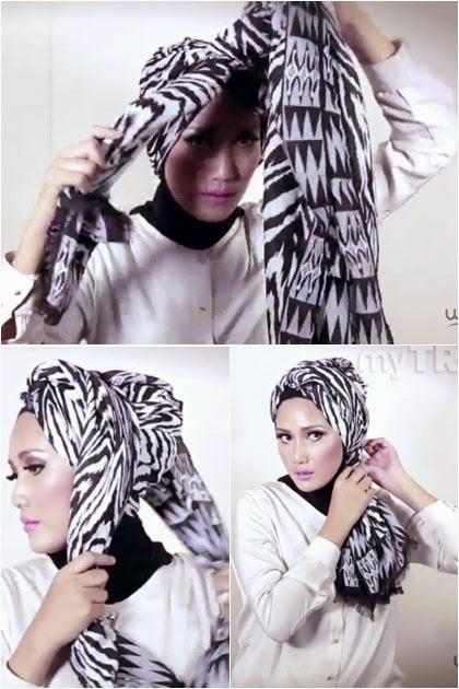Tutorial Hijab Turban Simple Untuk Hari Ini