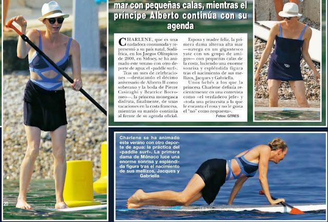 Princess Charlene of Monaco Dior So Real Sunglasses swimsuit