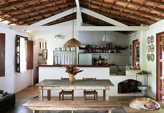varandas, decoração rústica