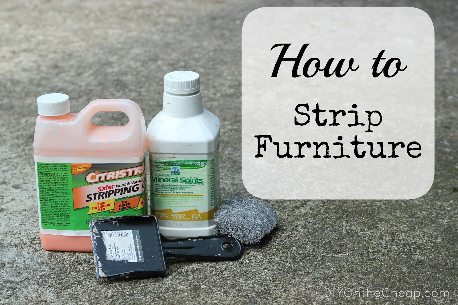 How To Strip Furniture Erin Spain