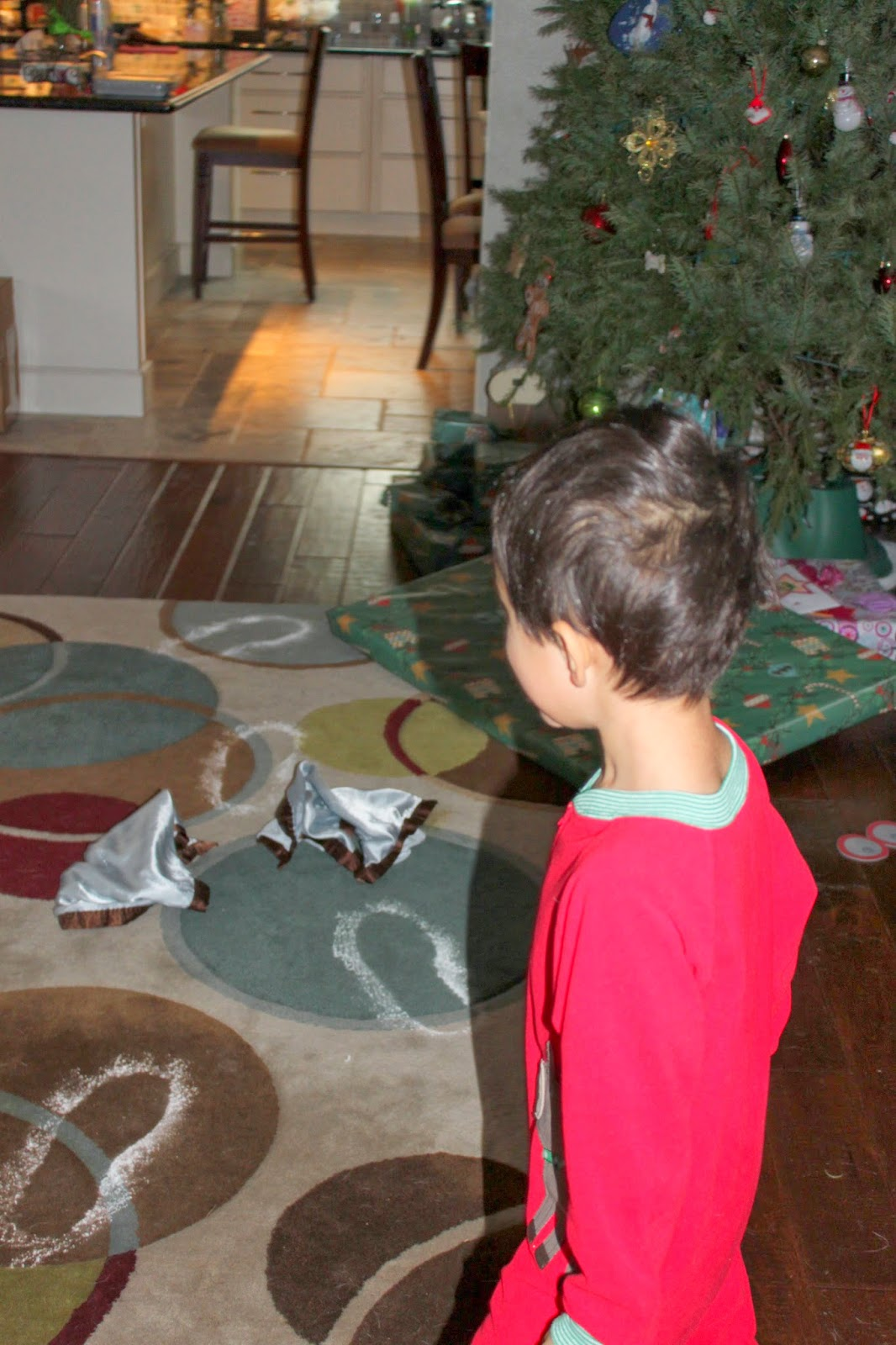 Superheroes and Sweetness: Christmas Morning - snowy footprints but ...