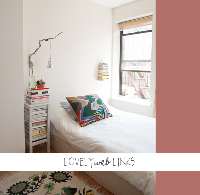 Lovely Web Links - Tiny Manhattan Apartment on Design Sponge