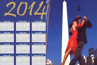 Calendario Argentino del 2014