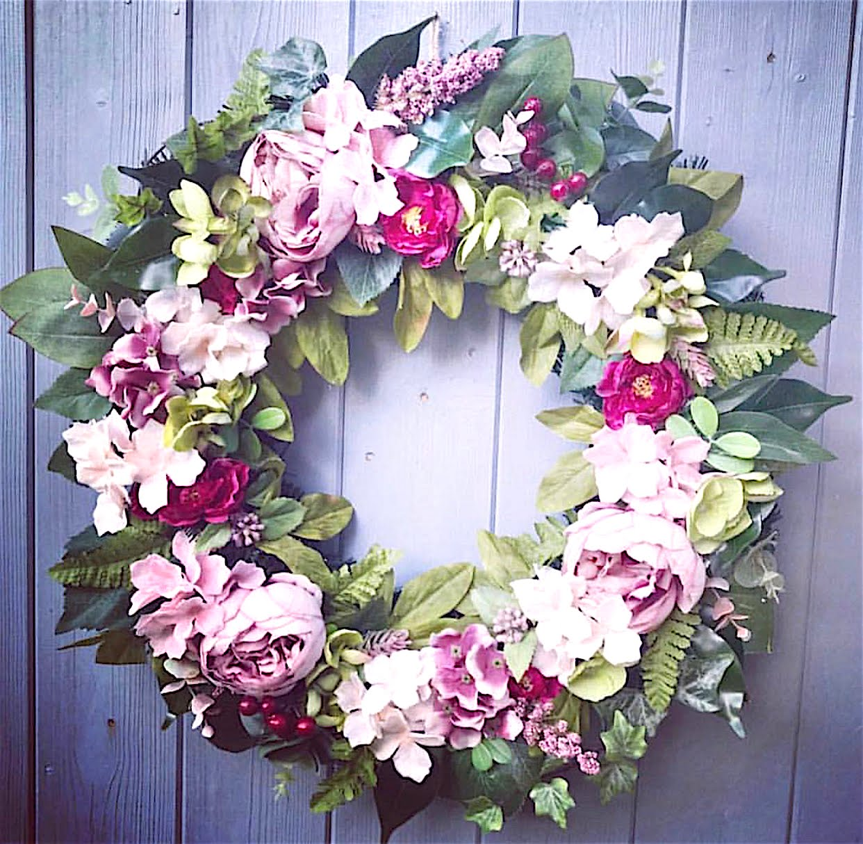 jasmine and lily floral wreaths