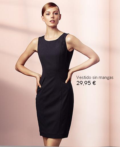 vestido corto sin mangas otoño 2013
