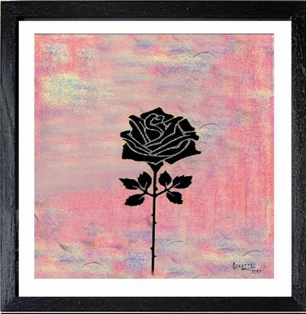 """""""Rosa Negra""""- 70 x 70 cm > Técnica mixta"""