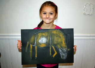 Tessa completed zoo animal! She was very pleased with her final product. She thought it a neat project.