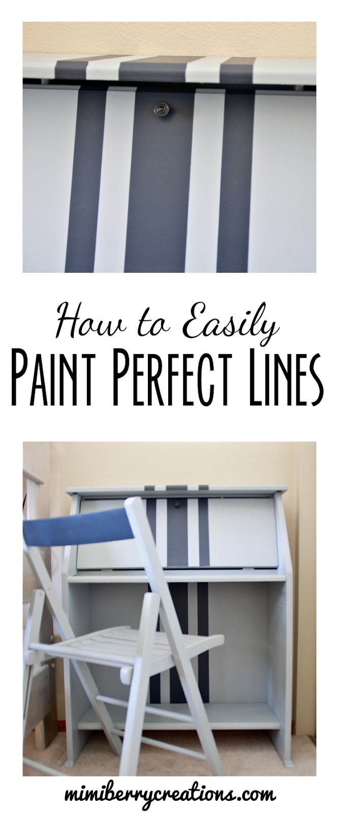 How To Paint Perfect Lines AND Fix Water Damaged Laminate Furniture