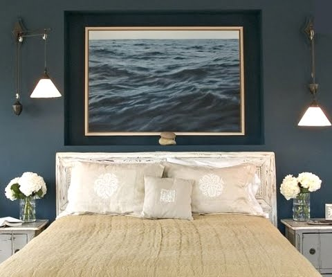 The Rest Of The Nautical Decor Scheme Via Chic Nautical Bedrooms
