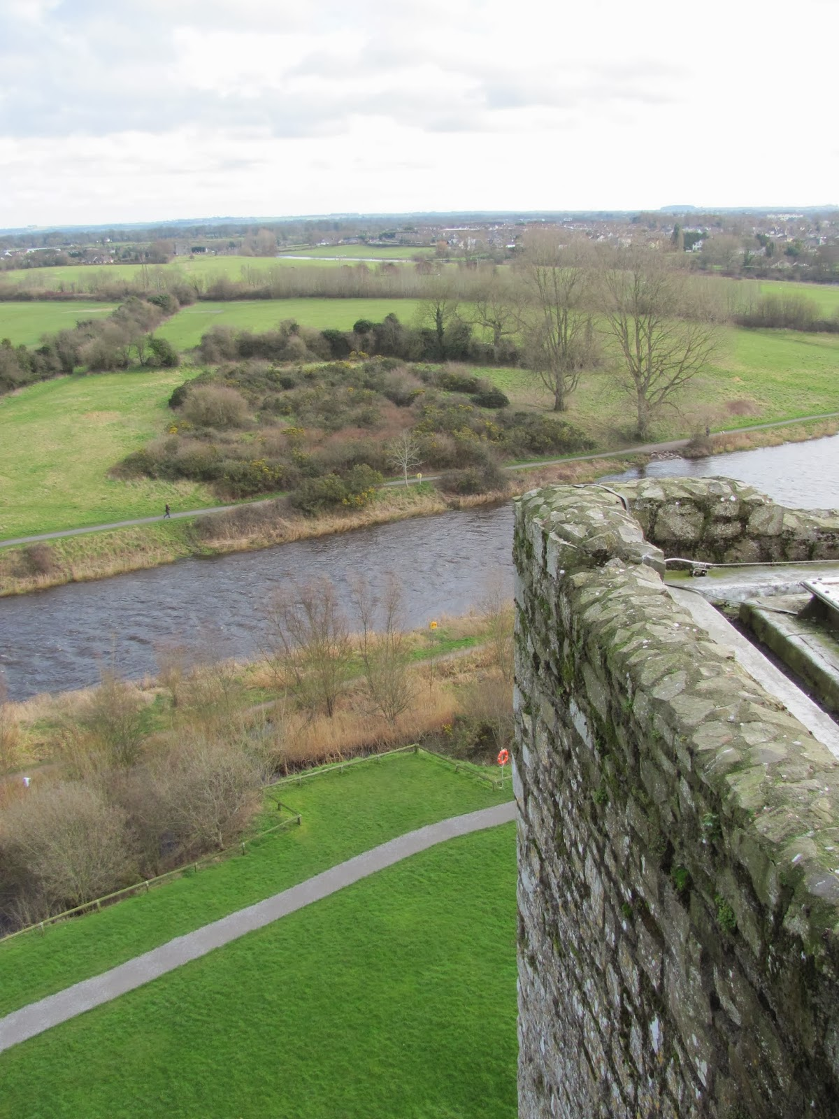 River Boyne seen from the ramparts of Trim Castle, Trim, Ireland