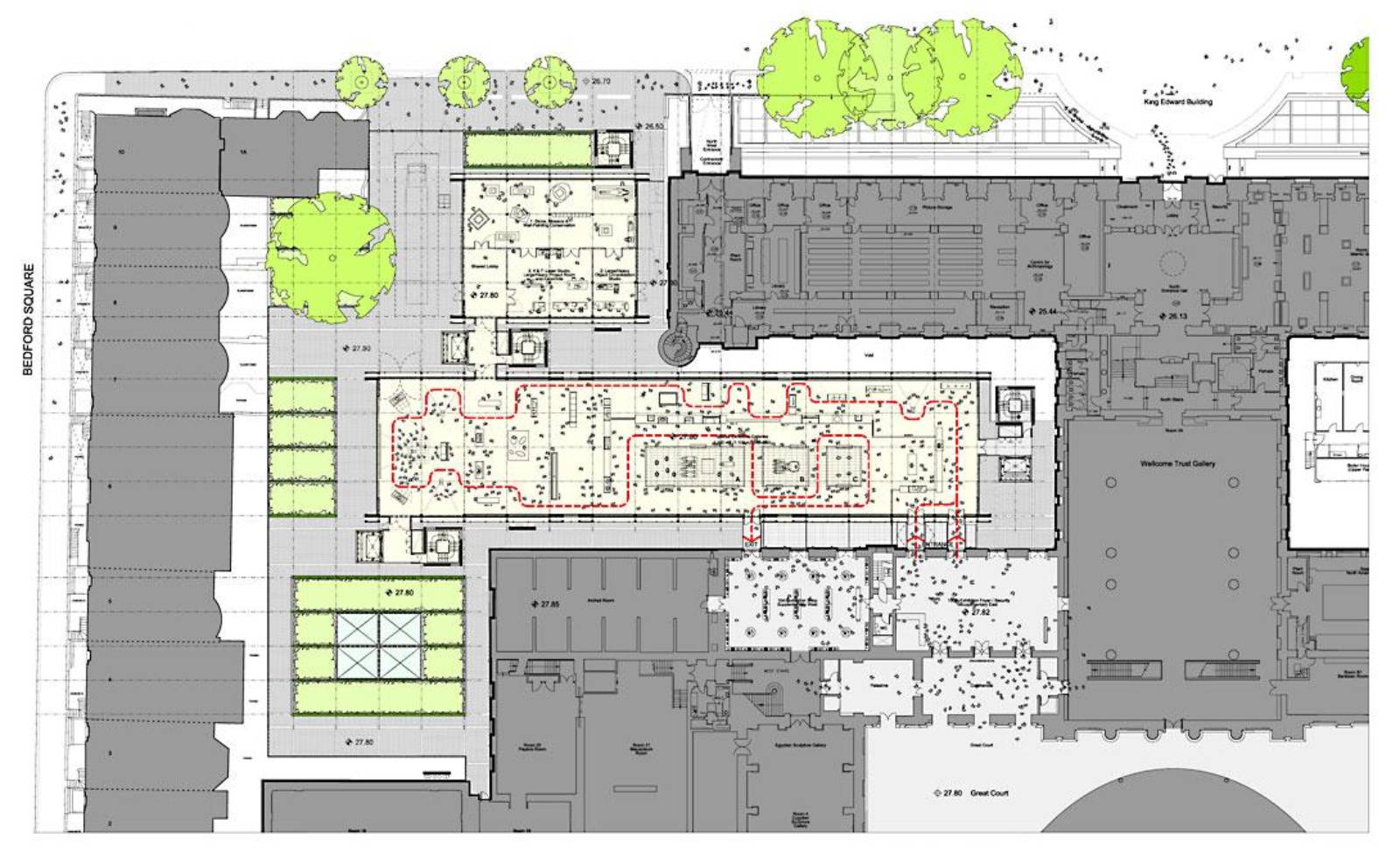 British Museum Extension By Rogers Stirk Harbour