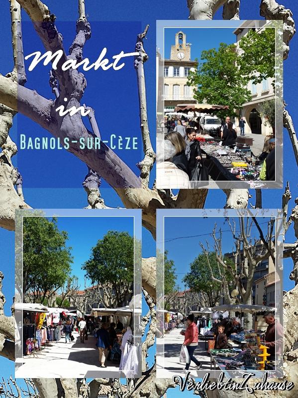 Bilder und Fotos von einem französischen Markt in Bagnols sur Cèze
