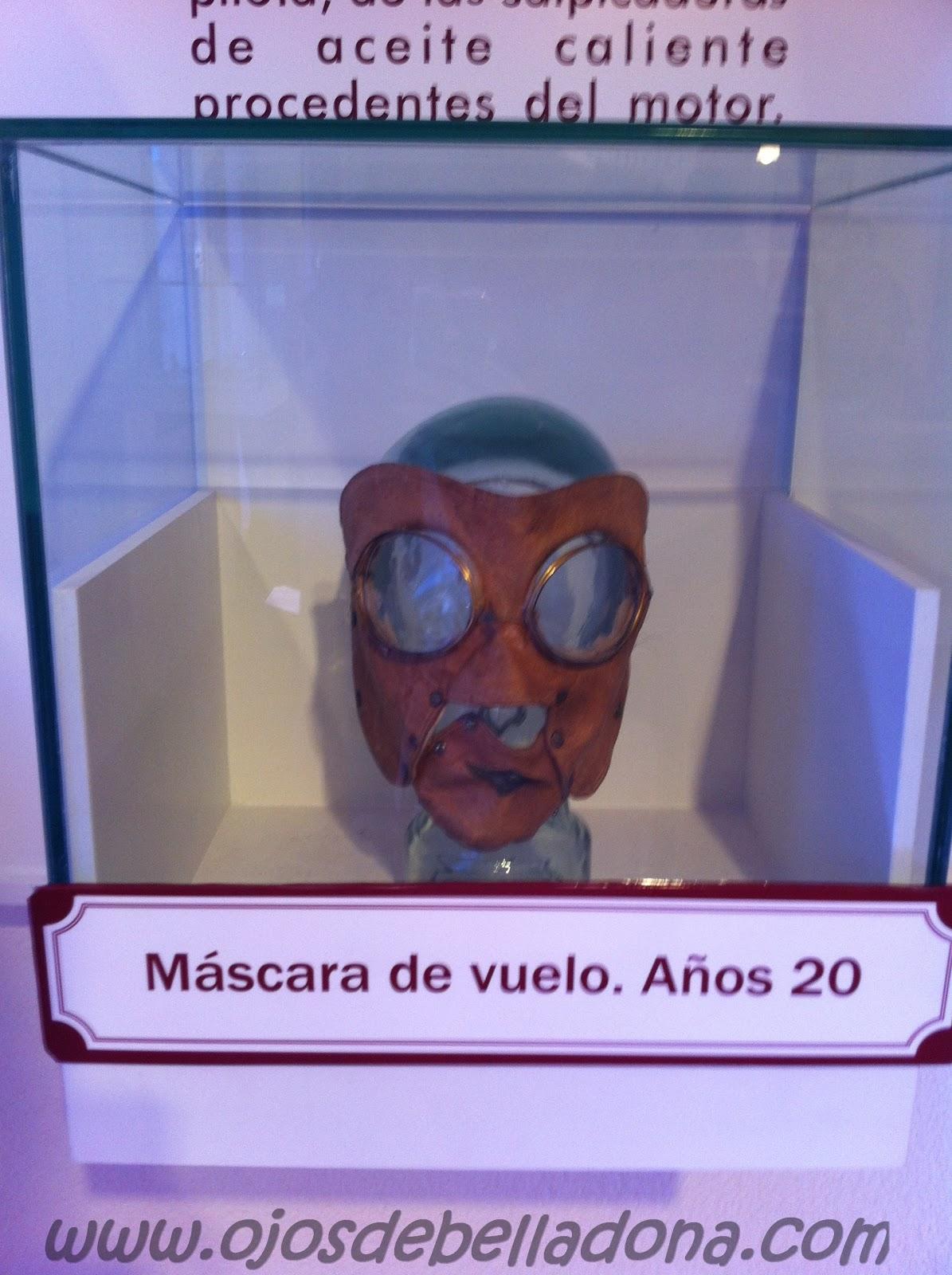 Máscara de piloto de Jorge Loring Museo de la Aviación de Málaga