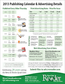 2013 Publishing Calendar & Advertising Details