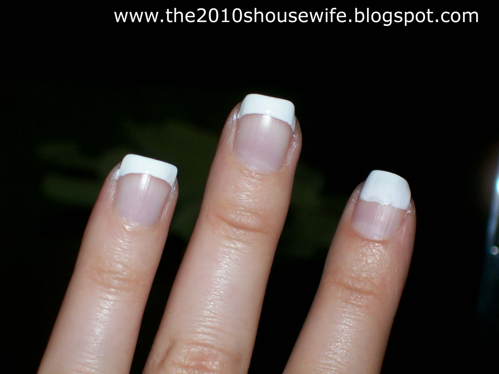 The 2010\'s Housewife: Budget French Manicure