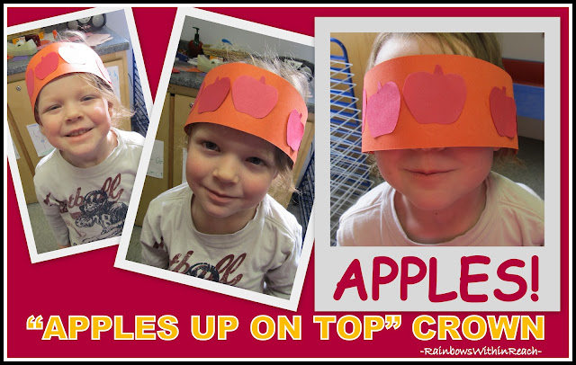 photo of: Apples Up on Top Crown, Dr. Seuss Crown for Back-to-School or Dr. Seuss Celebration