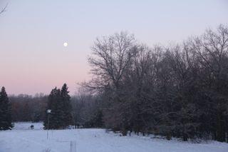 photo of winter moon set