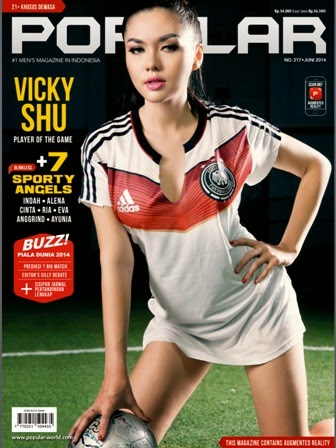 E-Magz Popular-World No.317 Juni 2014 Cover Vicky shu