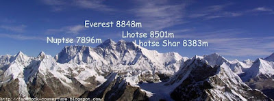 Photo couverture facebook montagne Everest sommet