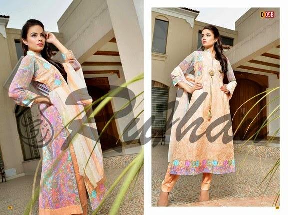 FestivanaEidCollectionByRujhanFabrics wwwfashionhuntworldblogspot 21  - Festivana Eid Collection 2014-2015 By Rujhan Fabrics