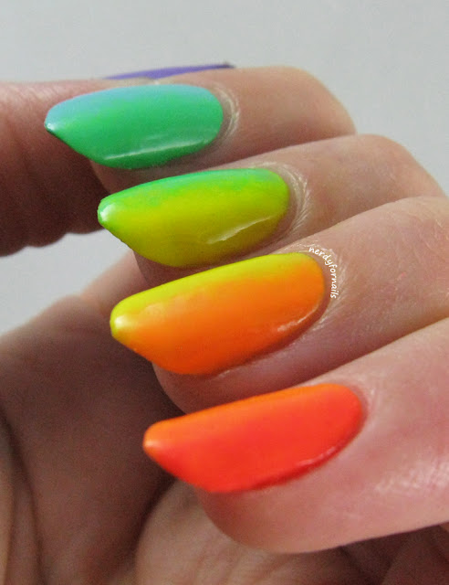 China Glaze Electric Nights Collection Vertical Gradient Neon