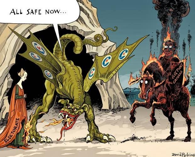 David Parkins: The dragon slays St. George?