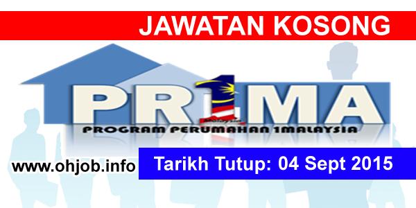 Jawatan Kerja Kosong Perbadanan PR1MA Malaysia (PR1MA) logo www.ohjob.info september 2015