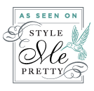 We have been featured on style me pretty
