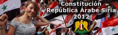 Constitución de la República Árabe Siria Bannercons