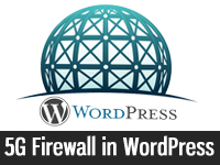 add 5G firewall in WordPress