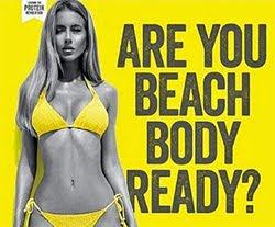 """""""Are you Beach Body ready"""" (Ist der Körper bereit für den Strand?)"""