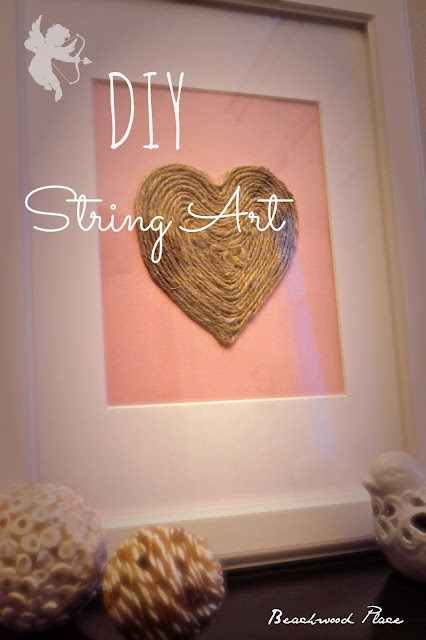 diy string heart valentine