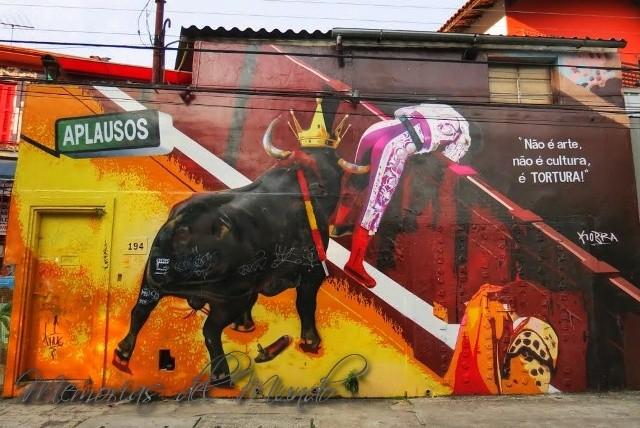 Murales de Kobra en Sao Paulo