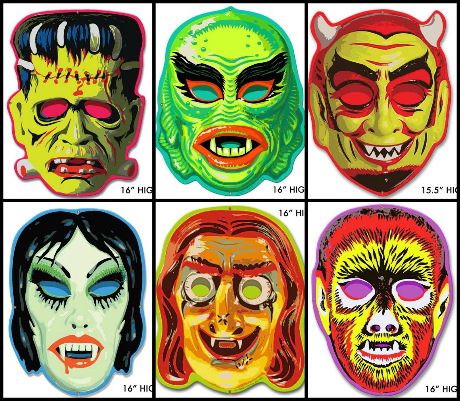 Coffin Kitsch: Kitsch Picks: Monster Masks Metal Signs by Retro-a ...