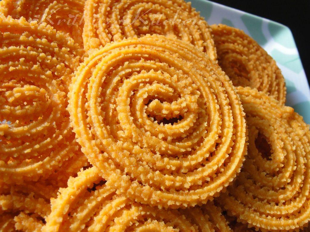 Krithi S Kitchen Spicy Murukku Chakali For Diwali With