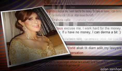 Kontroversi Zahida Rafik Bersama Menteri Kabinet