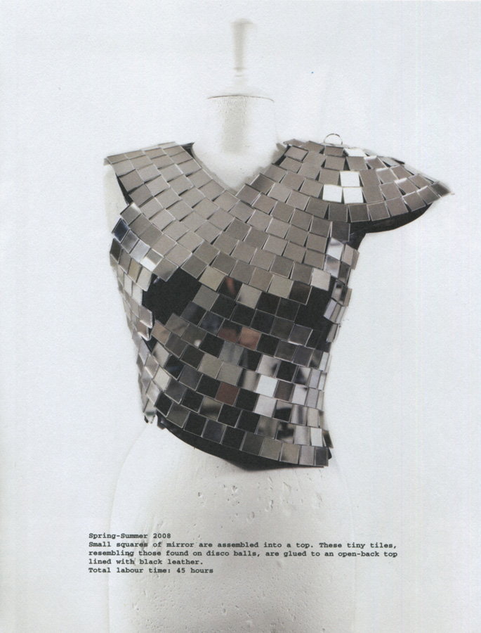wearable object in fashion one more good one maison martin margiela mmm disco ball top 2008