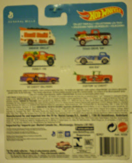 Back of General Mills Cereal Hot Wheels