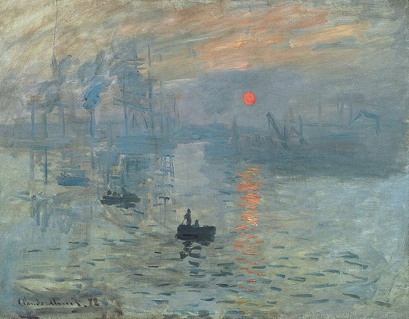Клод Моне  Впечатление. Восходящее солнце. 1872  Impression, soleil levant. Блог Вся палитра впечатлений. Palette of impression blog