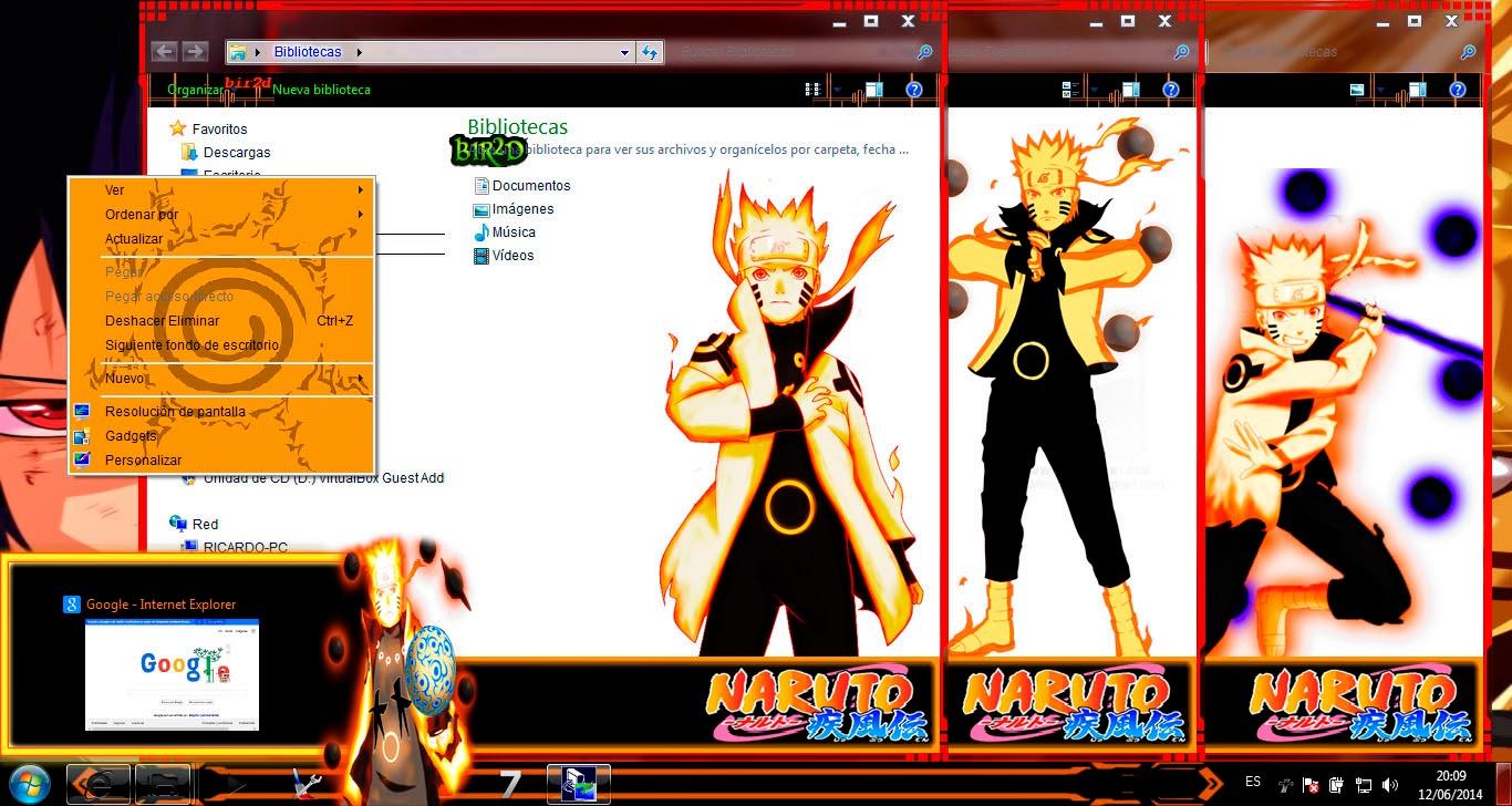 [ Theme Win 7 ] Naruto Shippuden 3