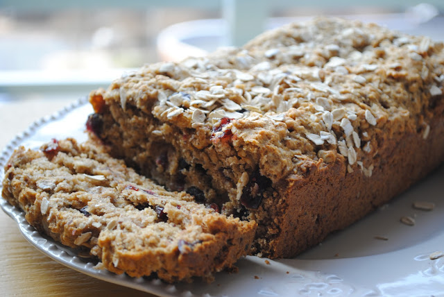 Cranberry Oat & Honey Bread