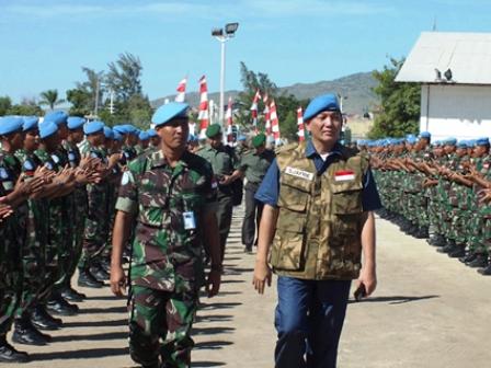 Wamenhan dan Kasad Kunjungi 167 Prajurit TNI di Haiti