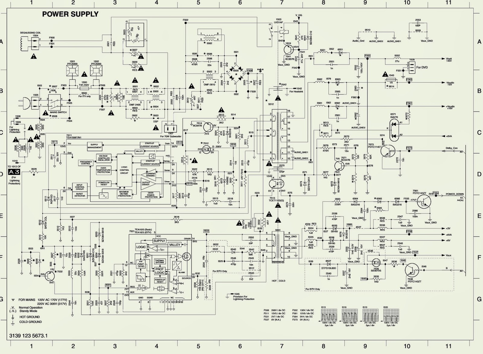 Philips Tv Circuit Diagram 26 Wiring Images 40pfl3606 Lcd Power Supply Schematic Electro Help L04a Chassis Smps Scan Out