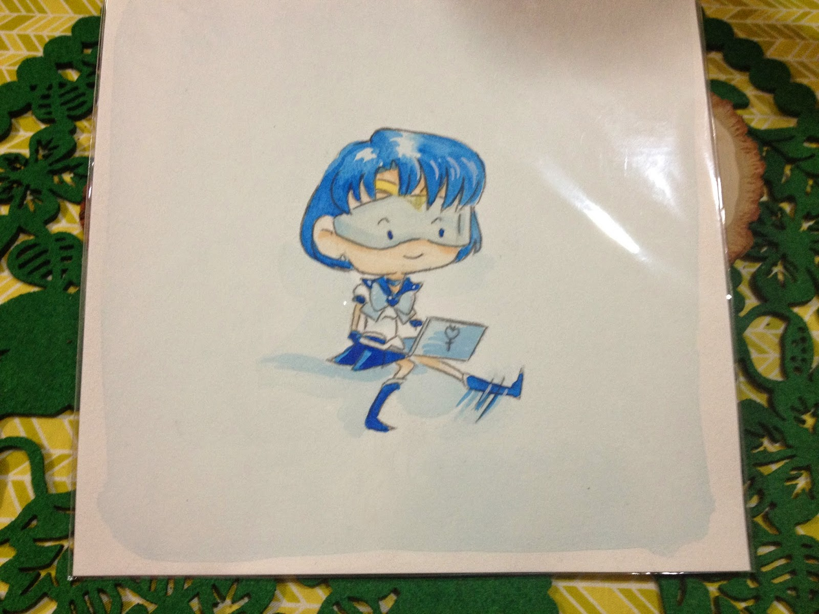 Sailor Mercury watercolor