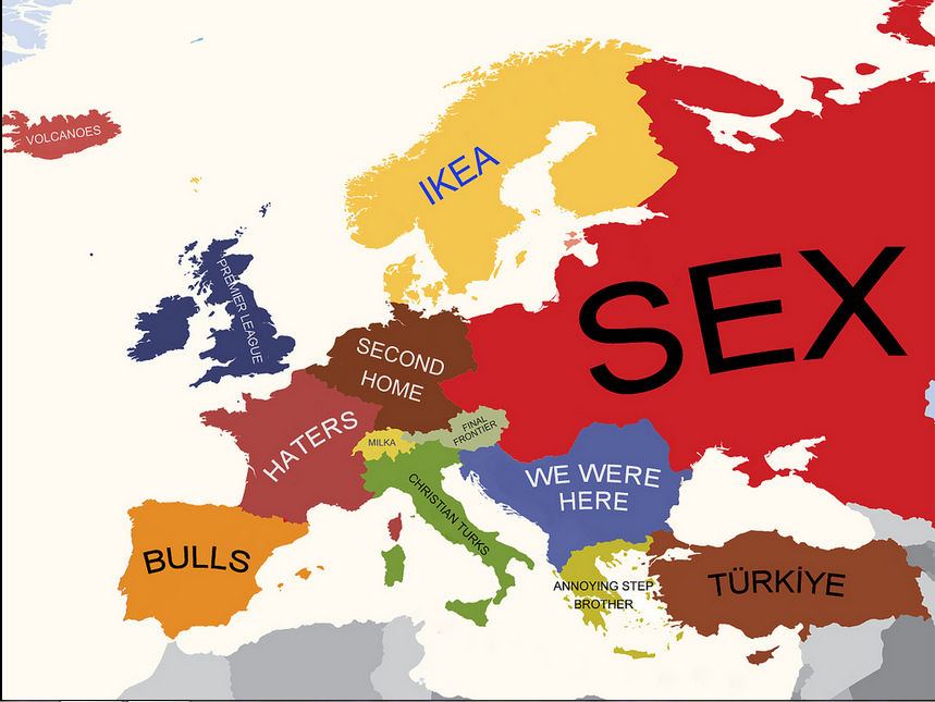 Europe according to Turks Turkish point of view to European – European Countries on Map