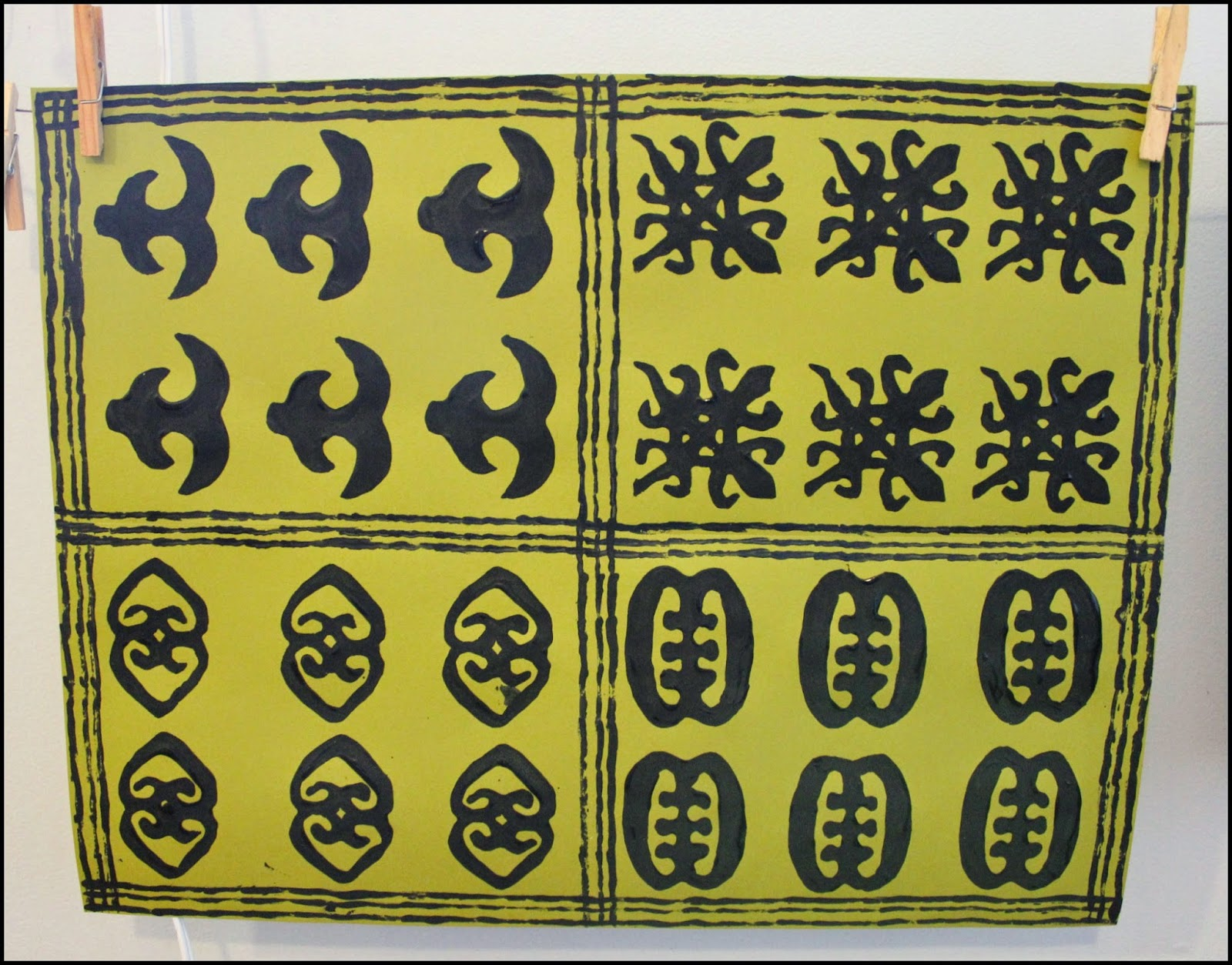 Maries pastiche adinkra cloth make your own adinkra cloth craft peas adinkra symbols mean biocorpaavc