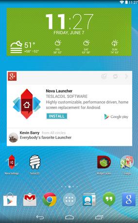 Nova Launcher Rasa Android Lolipop