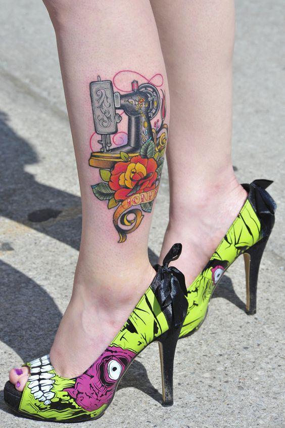 tatuajes de máquina de coser